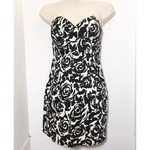Forever 21 S Black Floral Bodycon Dress Bustier
